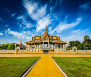 Royal Palace-Komplex in Phnom Penh Stockfotografie