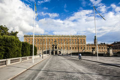 Royal palace (Kungliga Slottet) in Gamla Stan, Stockholm, Sweden Stock Photos