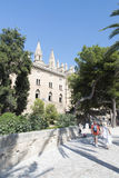 Royal Palace of La Almudaina, Palma de Mallorca Royalty Free Stock Photography