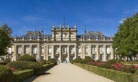 Royal Palace of La Granja de San Ildefonso. In Spain Stock Photography