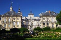 SEGOVIA, SPAIN - JULY 24, 2018: The Royal Palace of La Granja de San Ildefonso. The Royal Palace of La Granja de San Ildefonso known as La Granja, is an early stock photos