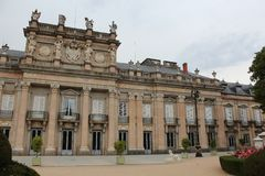 Royal Palace of La Granja de San Ildefonso, Segovia, Spain. The Royal Palace of La Granja de San Ildefonso is one of the three residences of the Spanish royal Stock Photo