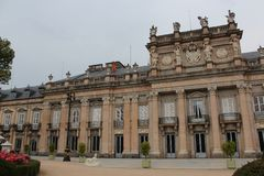 Royal Palace of La Granja de San Ildefonso, Segovia, Spain. The Royal Palace of La Granja de San Ildefonso is one of the three residences of the Spanish royal Royalty Free Stock Photo