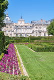 Royal Palace of La Granja de San Ildefonso in Segovia, Spain Stock Photo