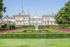 Royal Palace of La Granja de San Ildefonso in Segovia, Spain Stock Photos