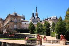 Royal Palace of La Granja de San Ildefonso (Spain). The Royal Palace and gardens of La Granja de San Ildefonso is an 18th century palace in Segovia province Royalty Free Stock Photos