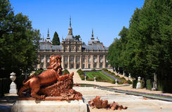 Royal Palace of La Granja de San Ildefonso (Spain). The Royal Palace and gardens of La Granja de San Ildefonso is an 18th century palace in Segovia province Royalty Free Stock Image