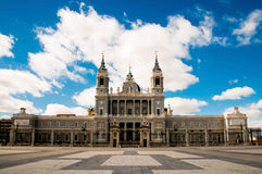 Royal Palace is landmark in Madrid, Spain Stock Photos