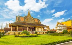 The Royal Palace is located Phnom Penh City capital of Cambodia. The  Royal  Palace  is  located  along  Sothearos  Blvd Stock Photography