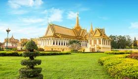 The Royal Palace is located Phnom Penh City capital of Cambodia. The  Royal  Palace  is  located  along  Sothearos  Blvd Stock Photos