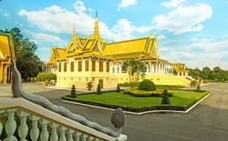 The Royal Palace is located Phnom Penh City capital of Cambodia. The  Royal  Palace  is  located  along  Sothearos  Blvd Stock Image