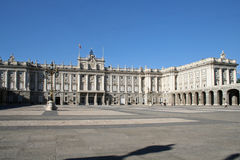 Royal Palace in Madrid. Royalty-vrije Stock Foto's