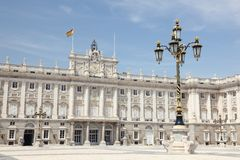 Royal Palace Madrid Royalty-vrije Stock Afbeelding