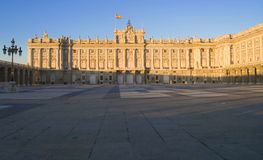 Royal Palace of Madrid Royalty Free Stock Images