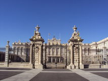 The Royal Palace of Madrid Stock Images