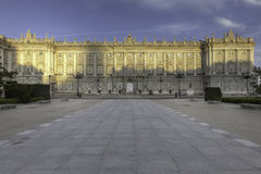 Royal Palace Madrid Royalty Free Stock Photography