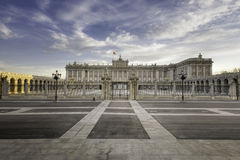 Royal Palace Madrid Royalty Free Stock Photo