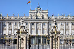 Royal Palace in Madrid Royalty Free Stock Photography