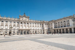 Royal palace madrid Royalty Free Stock Images