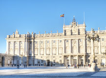 Royal Palace at Madrid Royalty Free Stock Images