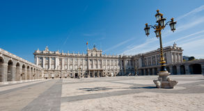 Royal Palace in Madrid. Front view of Spanish Royal Palace in Madrid Royalty Free Stock Images