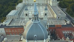 Royal Palace in Madrid stock video footage