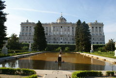 Royal Palace in Madrid (back view) Royalty Free Stock Photos