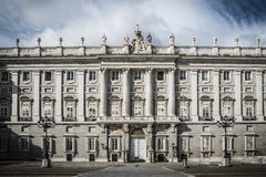 Royal Palace Madrid. Royal Palace in Madrid with blue sky Stock Image