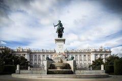 Royal Palace Madrid Royalty Free Stock Images