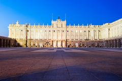 The Royal Palace of Madrid in Madrid city, Spain. The Royal Palace of Madrid or Palacio Real de Madrid is the official residence of the Spanish Royal Family in royalty free stock images