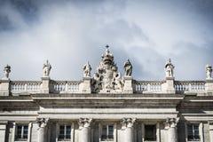 Royal Palace - Madrid. Royal Palace in Madrid close-up Stock Image