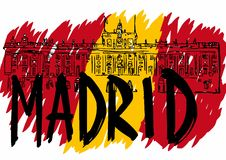 Royal Palace of Madrid Stock Images