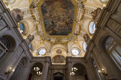 Royal Palace of Madrid, interior. Royalty Free Stock Photo