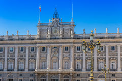 The Royal Palace of Madrid Palacio Real de Madrid, official r. Esidence of the Spanish Royal Family at the city of Madrid, Spain Royalty Free Stock Images