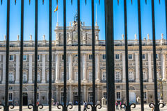 The Royal Palace of Madrid Palacio Real de Madrid, official r. Esidence of the Spanish Royal Family at the city of Madrid, Spain Stock Image