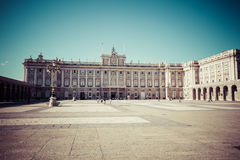 The Royal Palace of Madrid Palacio Real de Madrid, official r. Esidence of the Spanish Royal Family at the city of Madrid, Spain Royalty Free Stock Photography