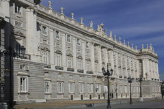 Royal Palace of Madrid Royalty Free Stock Photography