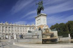Royal Palace of Madrid stock image