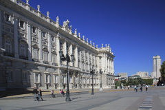 Royal Palace of Madrid royalty free stock photo