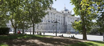 Royal palace in Madrid Royalty Free Stock Image