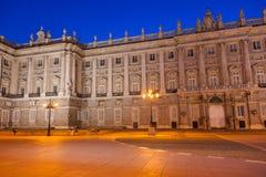 Royal Palace a Madrid Spagna Fotografie Stock