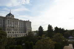 Royal Palace at Madrid, Spain Stock Photography