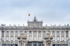 The Royal Palace of Madrid, Spain. Stock Image