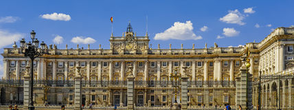 Royal palace in Madrid royalty free stock images