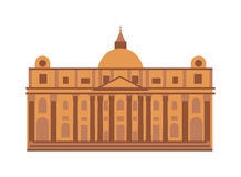 Royal palace at Madrid Spain architecture building landmark vector. Stock Photos