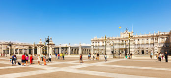 Royal Palace of Madrid. Spain Royalty Free Stock Images