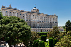 Royal Palace of Madrid, Spain. Horizontal shot Royalty Free Stock Image