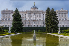 Royal palace from Madrid, Spain Stock Image