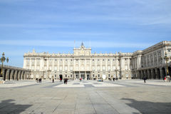 Royal Palace in Madrid Royalty Free Stock Photo