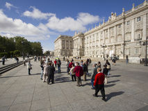 Royal Palace in Madrid, Spain Stock Image